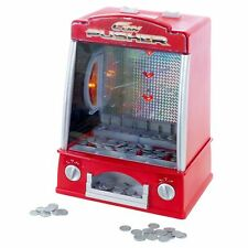 Mini Coin Pusher Arcade Game Replica 150 Play Coins Penny Dime Dozer 13 in High