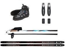 Whitewoods WHITETAIL Adult Metal Edge Cross Country NNN Skis Boots Poles Package