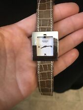 Hermes Be1.210 Belt Ss Leather Ladies Watch With Alligator Band