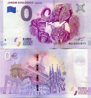 Lisbon Zoo Jardim Zoologico  2019 Series 1 Portugal 0 Euro Souvenir Note