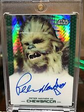Star Wars Topps Chrome Perspectives Autograph Card Olivia Peter Mayhew 08/50