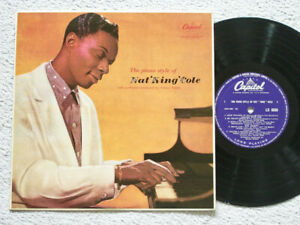 """NAT KING COLE - THE PIANO STYLE OF NAT KING COLE - 10"""" VINYL LP - CAPITOL LABEL"""