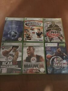 Xbox 360 6 Sports Games Lot (Factory SEALED)