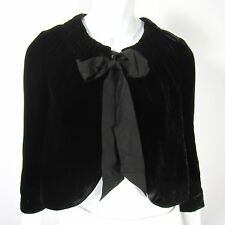 Banana Republic Long Sleeve Velour Jacket Shrug Size Petite 2P Solid Black