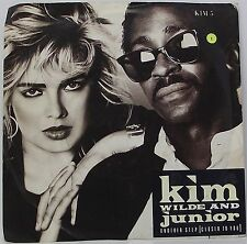 """KIM WILDE & JUNIOR : ANOTHER STEP 7"""" Vinyl Single 45rpm Picture Sleeve Excellent"""