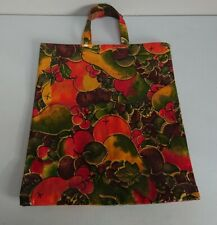 Ulster Weavers Vintage Tote / Shopping Bag Pvc/cotton / Oil Cloth fruit kitsch