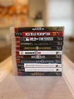 11 Playstation 3 Video Games Lot PS3 Black Label Assassins Creed AC MLB Sonic