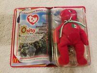 Osito the Bear McDonalds TY International Bears II Teenie Beanie Baby 2000 NIP