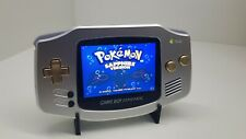 Ultimate Aluminium GameBoy Advance GBA  IPS  Rechargeable Brass Buttons