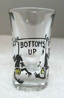 Vintage Bottoms Up Monkey's Hanging From Branch  Shot Glass Great Shape 2 7/8""