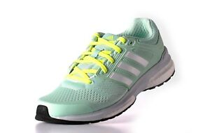 Womens Ladies Adidas Revenge Boost Techfit Running Shoes Trainers Sneakers Green