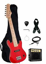 """NEW Raptor EP-3 Kid's 30"""" RED Electric Guitar Pack w/ 3W Amp, Gig Bag, Strap"""