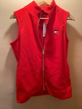 Mens Tommy Hilfiger Fleece Vest Vintage Style Red w/...