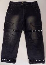Le Jean De Marithe Francois Girbaud Vtg 90s Dark Wash Hip Hop Cargo Jeans 40x32