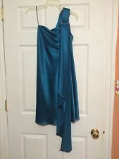 women's ABS turquoise one shoulder party Dress Size  6