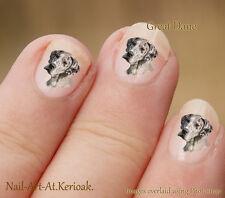 Great Dane 24 Diseño Exclusivo Perro Arte De Uñas Stickers Calcomanías