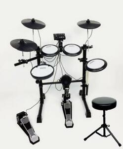 Aroma TDX-16S 8 Piece Electric Drum Kit +Dural Soft Stool. All-Mesh Heads