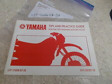 OEM Yamaha Tips & Practice Guide For The Hwy Motorcyclist (Pg55) LIT-11626-07-32