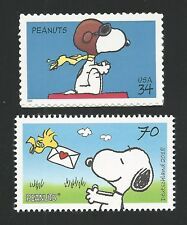 SNOOPY WWI Flying Ace Woodstock Charles Shultz Peanuts Stamps Set MINT CONDITION