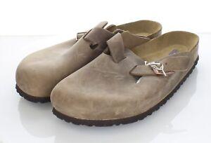 Z40 NEW $135 Men's Sz 13 M Birkenstock Boston Oiled Leather Soft Footbed Clogs