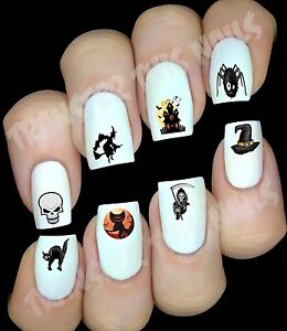 HALLOWEEN Stickers autocollant ongles manucure nail art water decal déco
