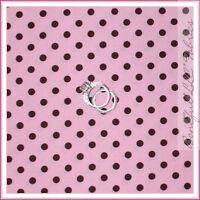 BonEful Fabric FQ Cotton Quilt Pink Brown Sm Retro Polka Dot Girl Nursery Calico