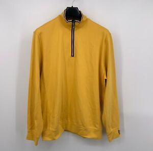 Georgia Tech Bobby Jones Performance Golf 1/4 Zip Pullover Jacket Yellow Size XL