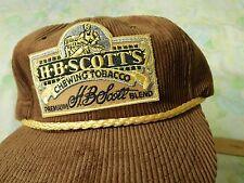 (Vtg) H.B Scotts Chewing Tobacco Premium Blend [Brown Corduroy] SnapBack HAT_CAP
