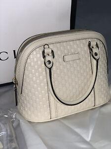 Gucci Mini Guccissima Dome Leather Bag in Ivory Womens GG RRP £1150