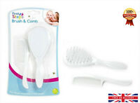 Baby Hair Brush & Comb Set in White Soft & Gentle for your Baby First Steps