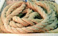 "55 feet of .75"" Old Barn, Ranch Natural Hemp Rope; No breaks, Oregon History,"