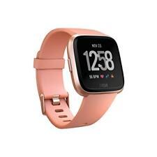 Fitbit Versa Smart Watch, Peach/Rose Gold Aluminium, One Size (S & L Bands Inclu