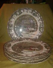 "Johnson Bros, England - ""The Friendly Village"" Dinner Plates 9 7/8"", 6 Avail"