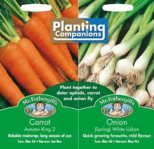 Mr Fothergills - Pictorial Packet - Vegetable Carrot / Onion Planting Companions