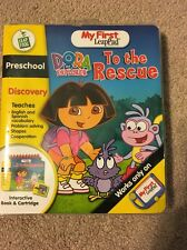 My First LeapPad - Dora The Explorer To The Rescue - Complete W/ Book EUC