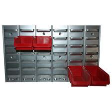 Metall-Wandregal f. Sichtboxen Schraubenregal Schlitzwand Schütten Stapelboxen