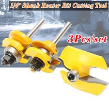 3Pcs 1/4'' Shank Ogee Rail & Stile+ Ogee Raised Cutter Panel Cabinet Router Bit