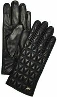NEW AUTHENTIC MICHAEL MICHEAL KORS QUILTED GENUINE LEATHER GLOVES MEDIUM $98
