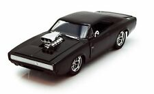 JADA 1:24 DISPLAY FAST AND FURIOUS DOM'S 1970 DODGE CHARGER R/T Die-Cast 97083