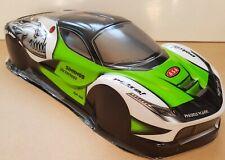 1/10 RC car 190mm on road drift Ferrari EXO GT Body Shell  W/Spoiler kit