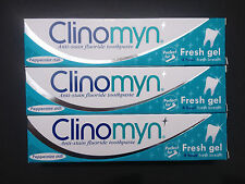 Clinomyn Toothpaste Fluoride for Smokers Dental Care Original 3 x 75ml
