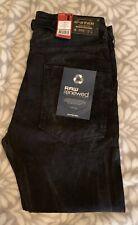 G-Star Raw US Lumber Straight Leg Tapered Men's Jeans Size 36/34 Black Renewed