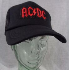 ac dc trucker hat mesh cap snapback angus hard rock heavy metal