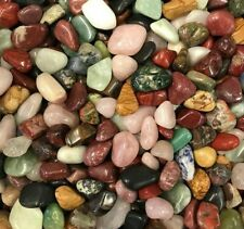 African Tumble Stone Mix - 1 Kilo Mixed Crystals (APPOX 100 CRYSTALS)