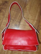 NEW Stunning Gianni Conti Red Leather Baguette Shoulder Bag Retro Vintage