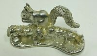 Vintage Silver Colored Pewter Squirrel Figurine Made in England