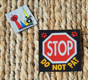 "assistance dog  & K9 WOVEN ""STOP DO NOT PAT"" patch"