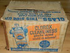 Vintage Cardboard Box Clorox Patent 1939 for Quart Sized Bottles
