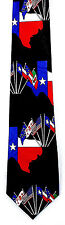 Texas Pride Mens Neck Tie State Flag Black Necktie Lone Star Texan Gift New