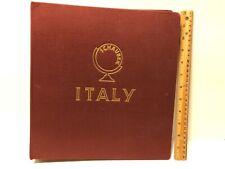 Red Schaubek Album No: 819 / Italy Italien Italie / Rare Unused Stamp Book HTF
